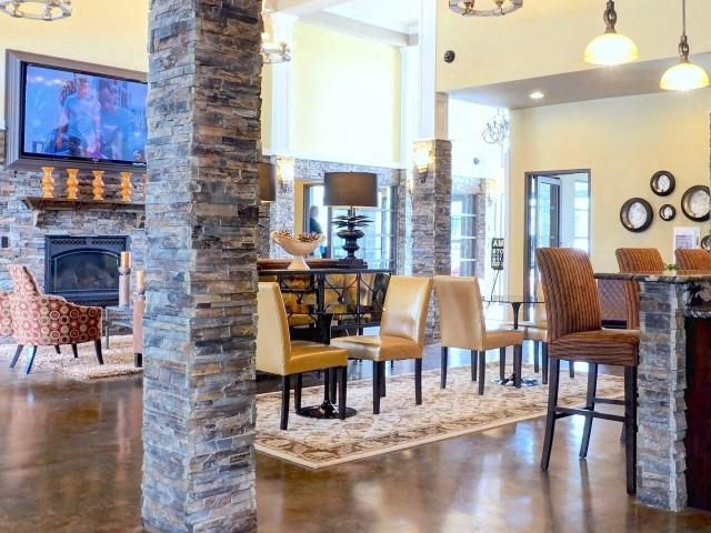 Clubhouse Lounge Area at Amberton at Stonewater, North Carolina, 27519
