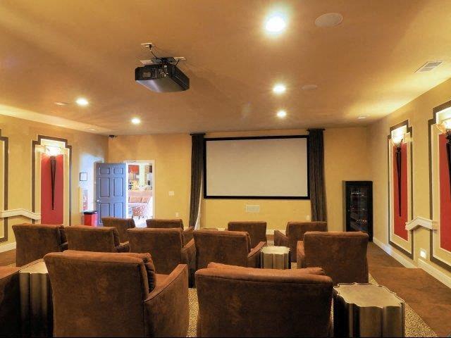 Media Room View at Amberton at Stonewater, Cary, 27519