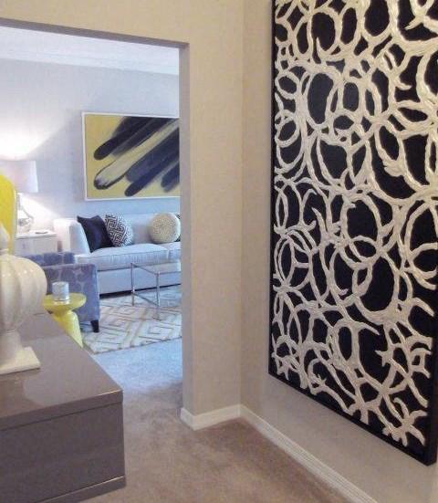 Living Room Interior at Amberton at Stonewater, Cary