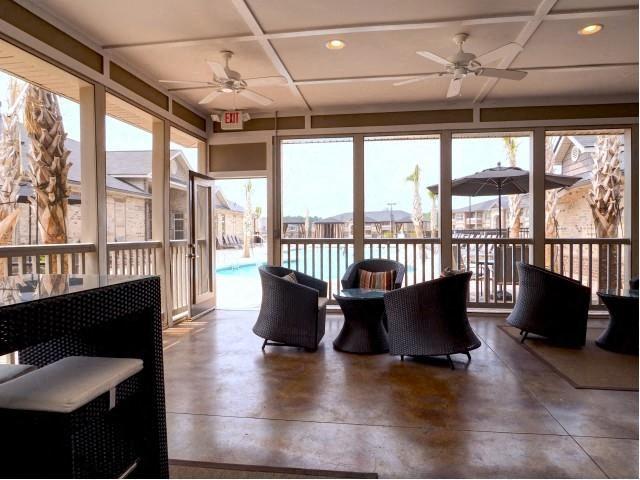 Open-Air Lounge at Amberton at Stonewater, Cary, North Carolina