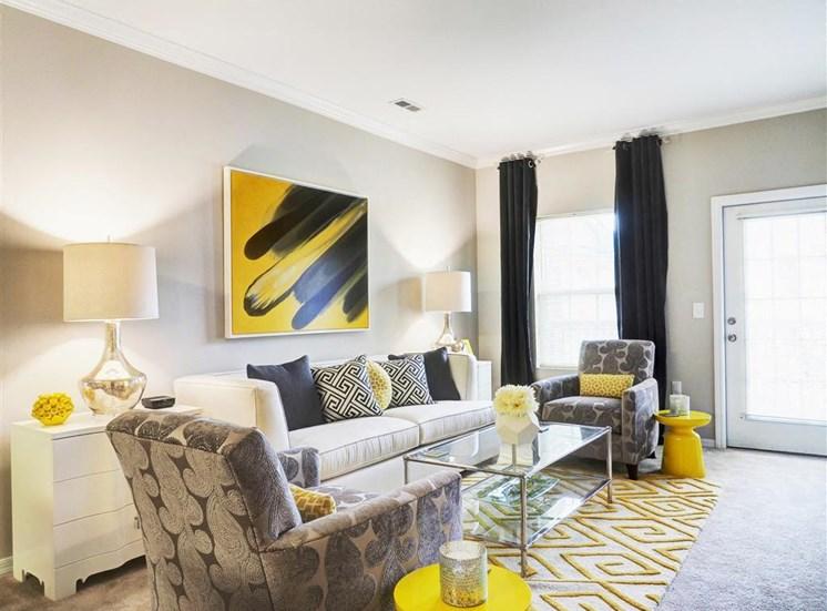 Modern Furnished Living Room at Amberton at Stonewater, Cary, NC
