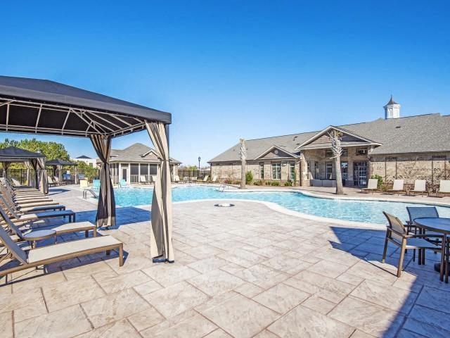 pool seating at Adeline at White Oak, North Carolina