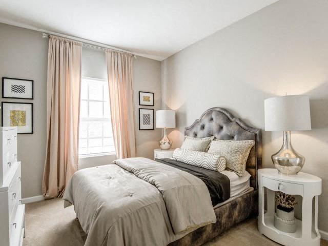 Trendy Master Carpeted Bedroom at Adeline at White Oak, Garner, 27529