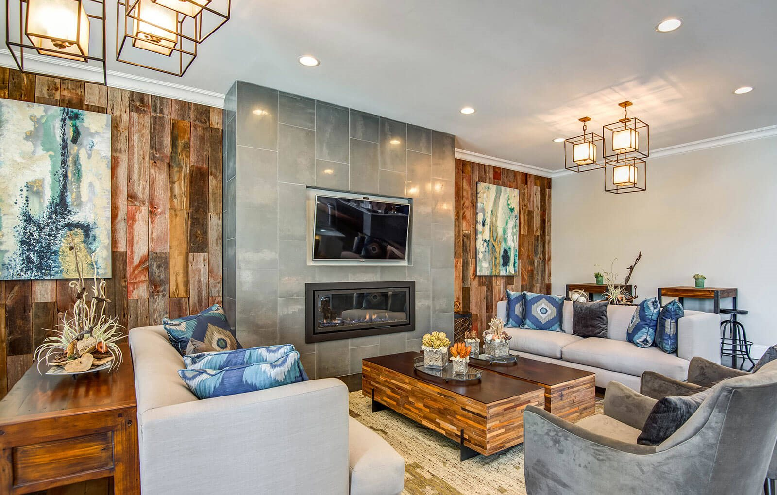Luxurious Interiors  NorthPoint at 68 Clubhouse Lounge
