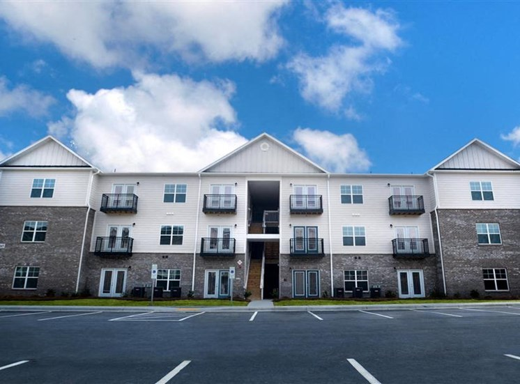 Apartment Complex Exterior With Beautiful Brick Construction at NorthPoint at 68, High Point, North Carolina