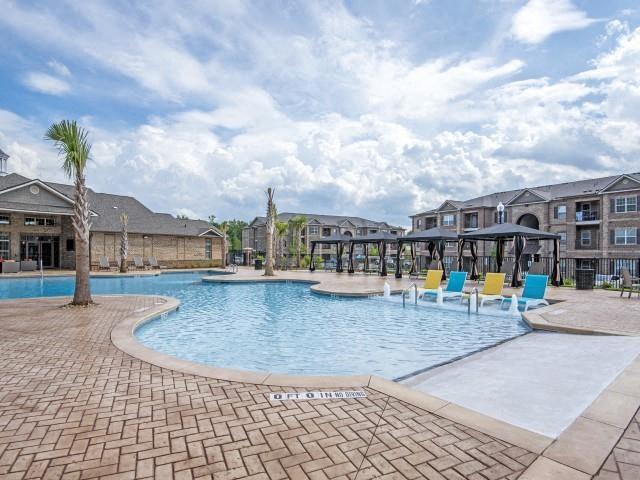 Shaded Lounge Area by Pool at Maystone at Wakefield, Raleigh, North Carolina