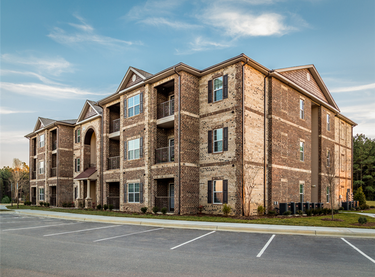 Apartment Complex Exterior With Beautiful Brick Construction at Maystone at Wakefield, Raleigh, NC, 27614