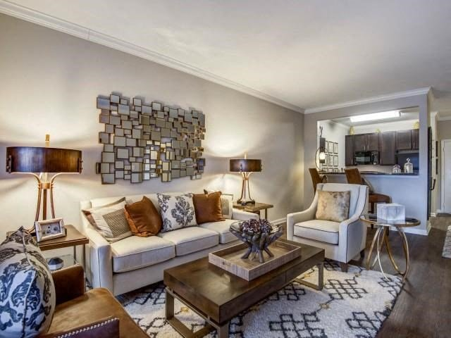 Trendy Living Room at Maystone at Wakefield, Raleigh