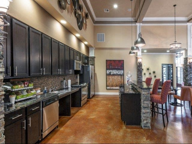 Custom Designed Resident Lounge Kitchen at Glass Creek Apartments, Tennessee, 37122