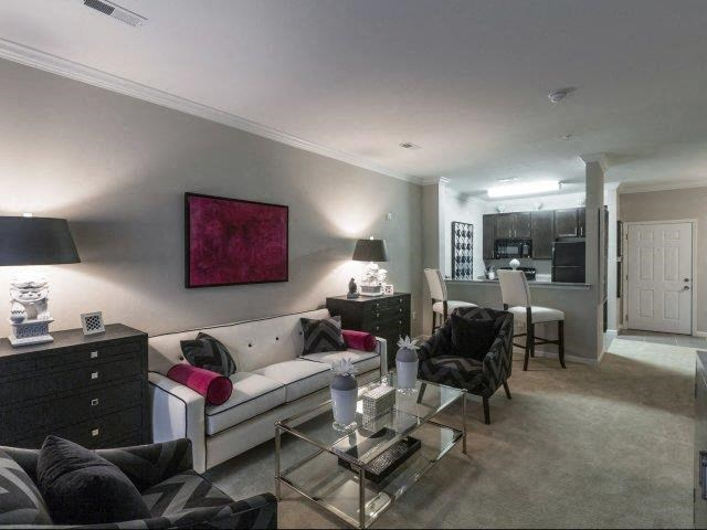 Living Rooms With Modern Lighting at Glass Creek Apartments, Mt Juliet, TN