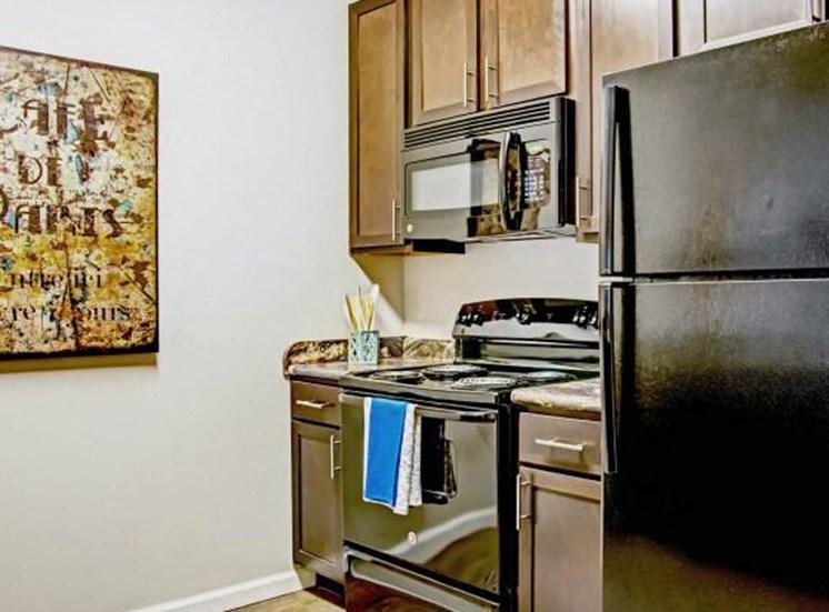 Kitchen With Premium Hardwood Shaker-Style Cabinetry at Heron Pointe, Nashville, 37214