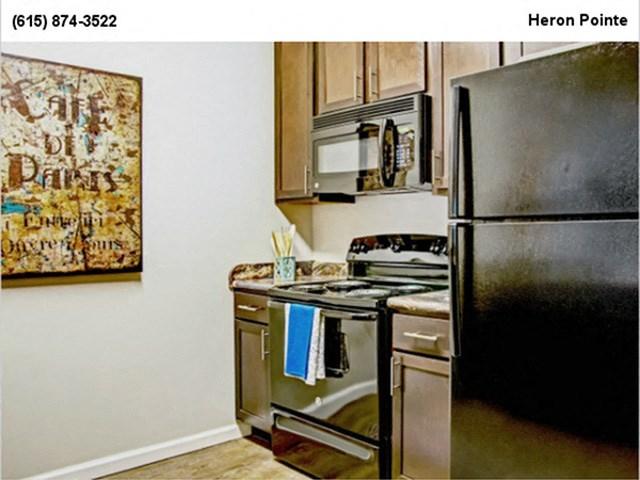 Sleek Kitchen Interior Finishes at Heron Pointe, Tennessee, 37214