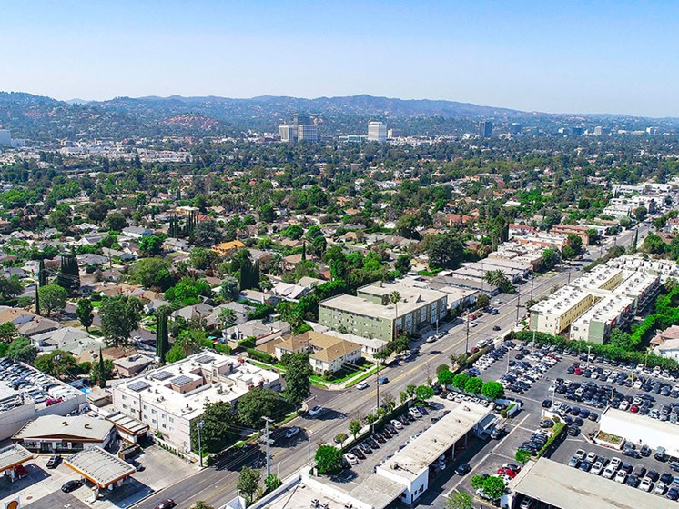Aerial view photo of Magnolia and Van Nuys Blvd. in Sherman Oaks.