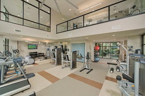 Fitness Center with Yoga and Spin