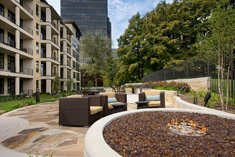 Outdoor Fire Pit with Seating Area