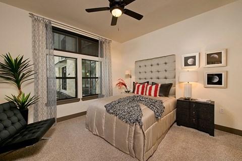 Bedroom in model unit