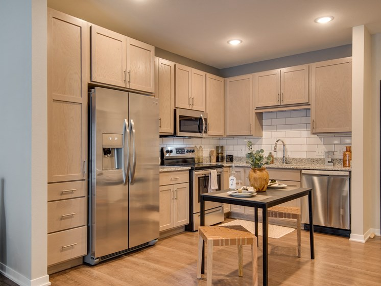 Rich Shaker Style Cabinetry at TRIO @ southbridge, Shakopee, MN, 55379