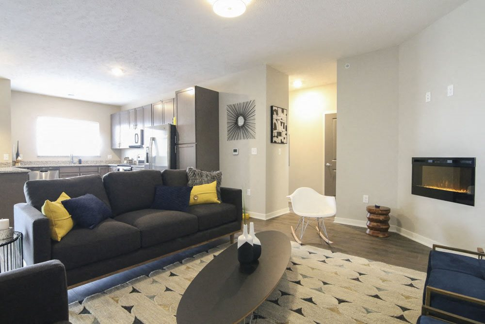 One bedroom layout with open concept at WH Flats new luxury apartments in south Lincoln NE 68516
