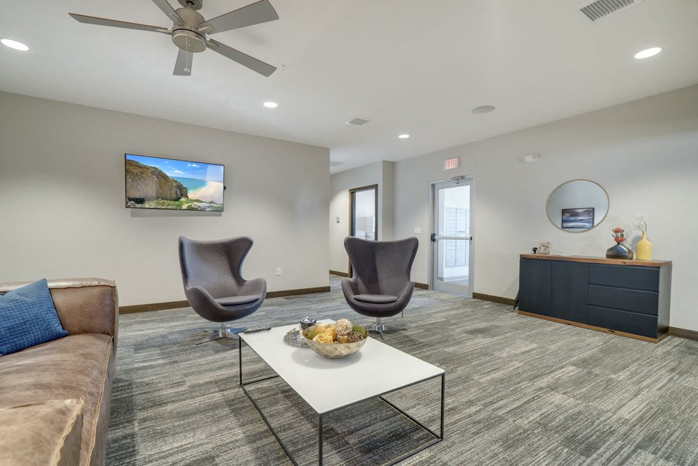 Leasing office at WH Flats luxury apartments in south Lincoln NE