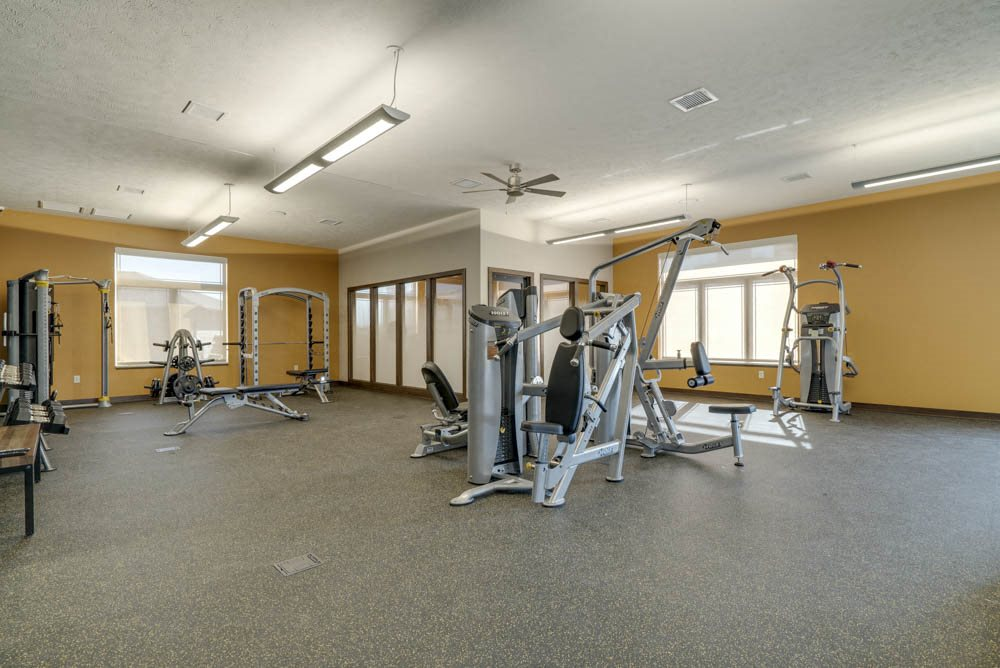 WH Flats luxury apartments' workout gym in south Lincoln NE