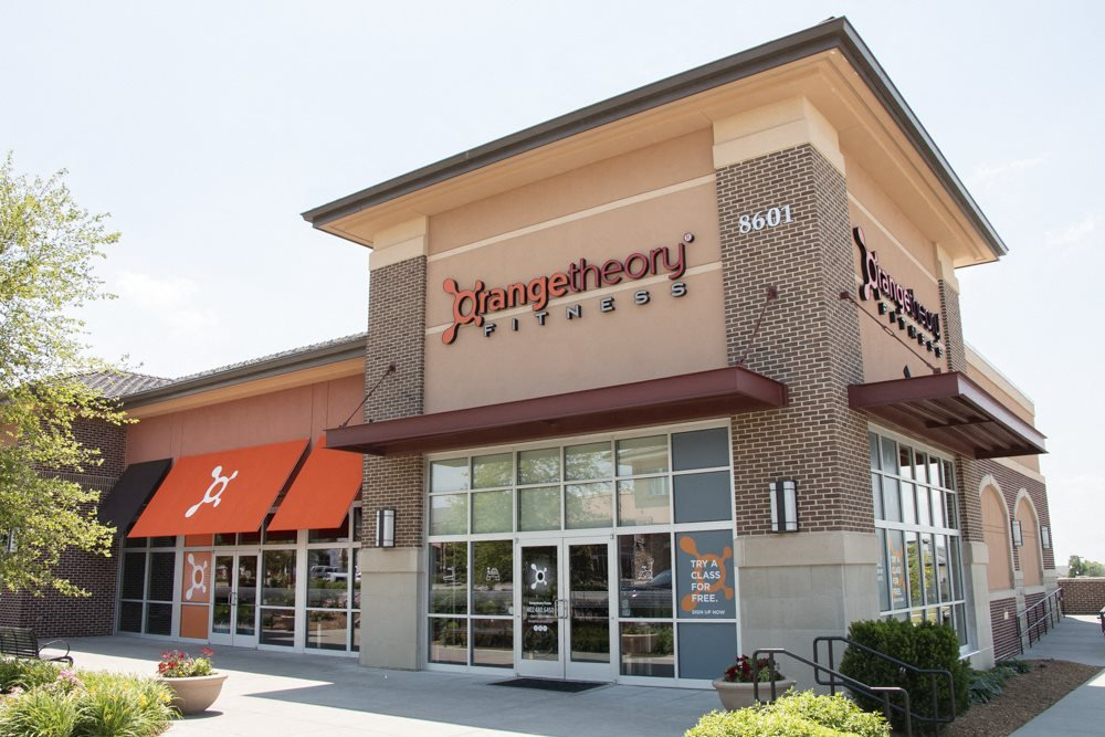 Exterior view of Orange Theory Fitness near WH Flats luxury apartments in south Lincoln NE 68516