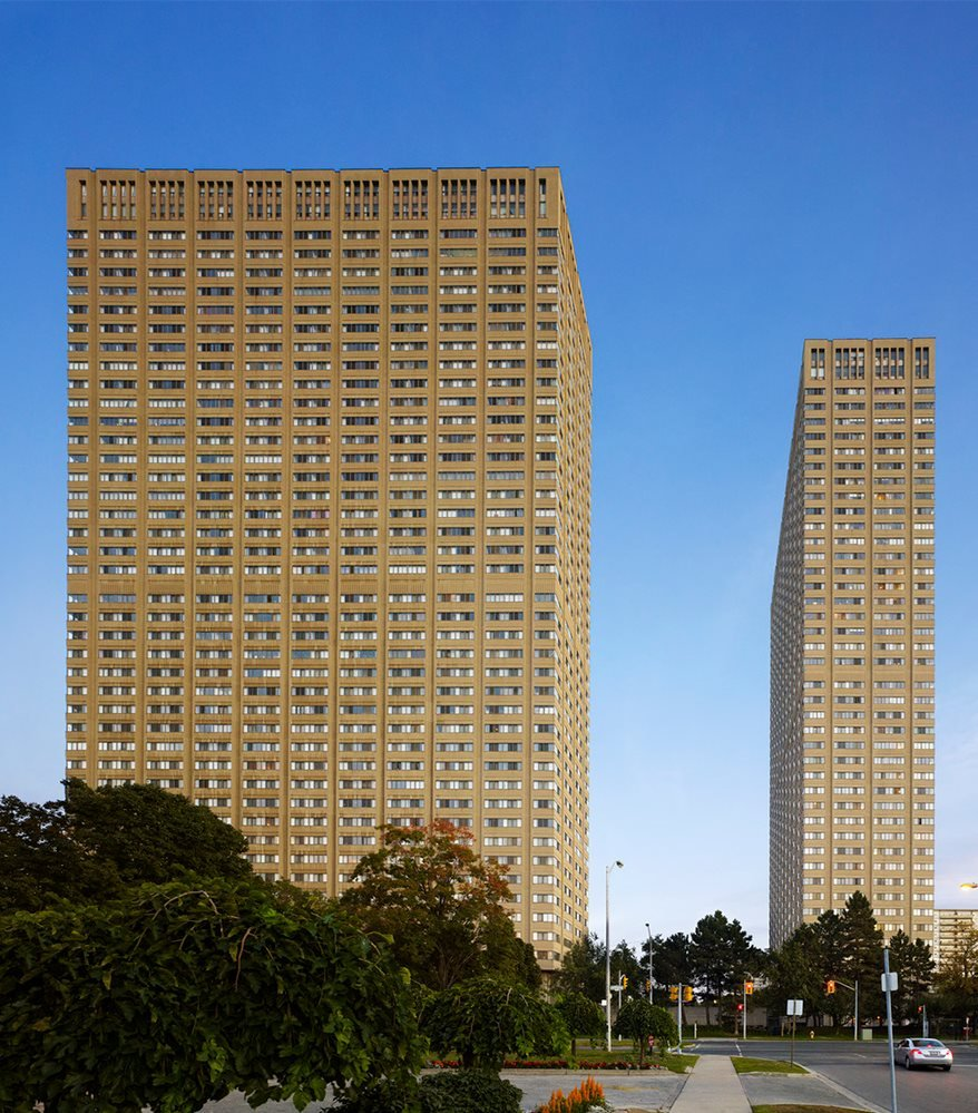Exterior of Leaside Towers