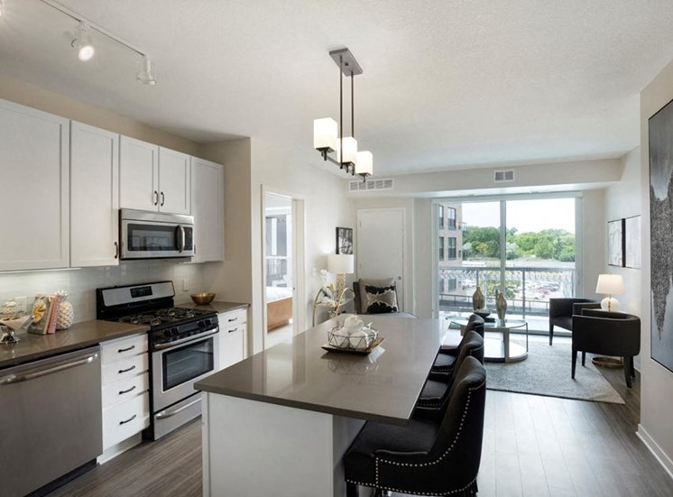Well Equipped Kitchen, Residences at 1700, Minnetonka, MN