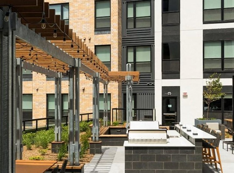 Outdoor Kitchenm at Residences at 1700, Minnesota, 55305