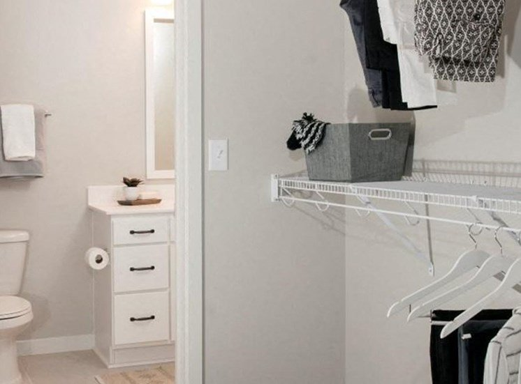 Walk-In Closets With Built-In Shelving, Residences at 1700, MN 55305