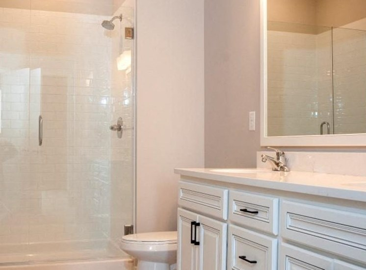 Renovated Bathrooms With Quartz Counters, Residences at 1700, Minnetonka