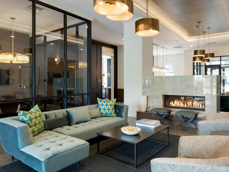 Clubhouse with Upgraded Interiors at The Shoreham, St. Louis Park, Minnesota