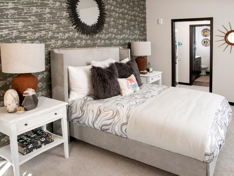 Bedroom with Berber Designer Carpet at The Shoreham, St. Louis Park, MN 55416