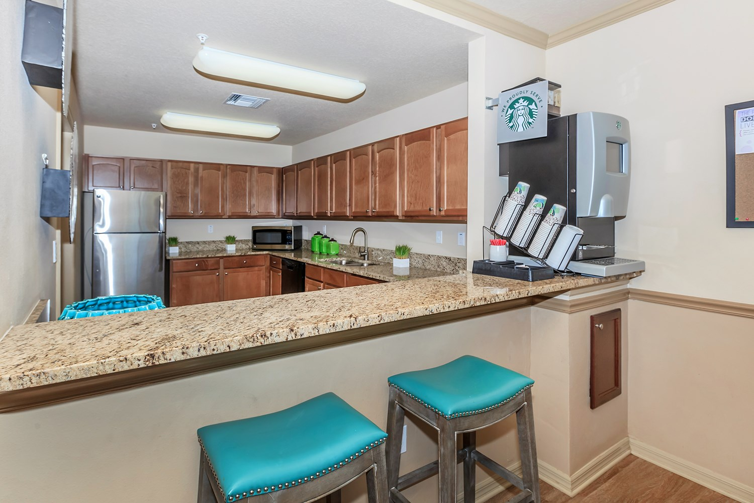 Clubhouse Kitchen at Riversong Apartments in Bradenton, FL