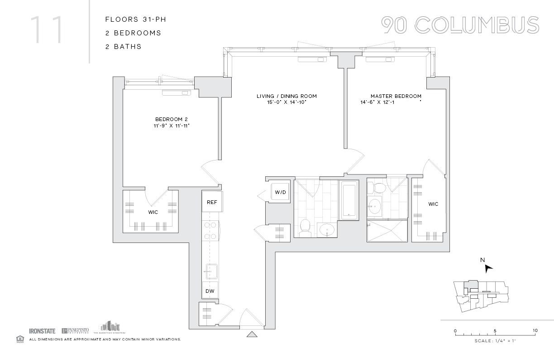 Floor Plans Of 90 Columbus In Jersey City Nj