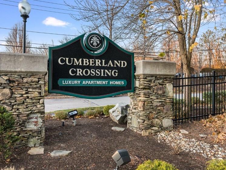 Cumberland Crossing Monumental sign