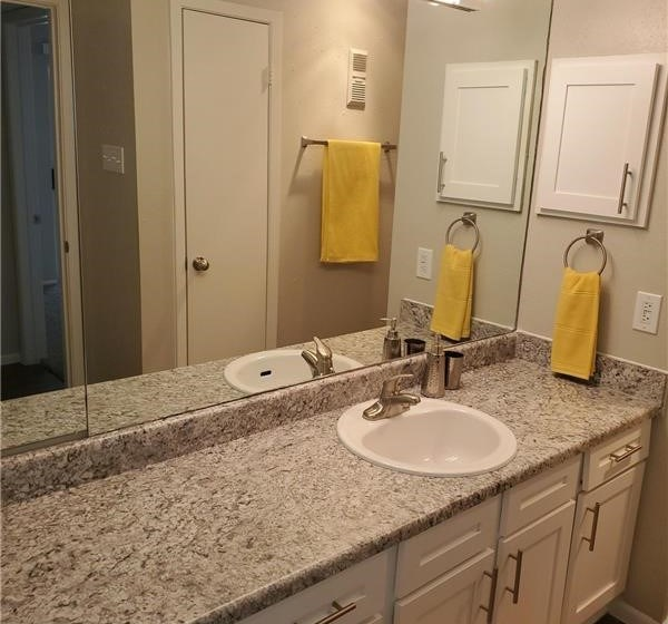 beautiful countertops in our restrooms