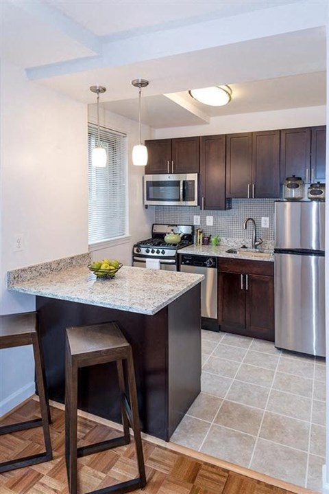 Renovated Apartments with Separate Kitchens at Quebec House, Washington