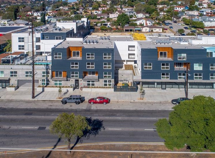 Drone View Of Property at The Perch, Los Angeles, 90065