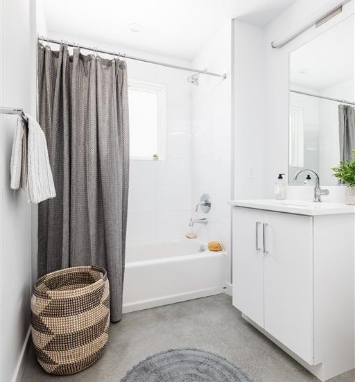 Bathroom view with simple fresh decor! at The Perch, California, 90065