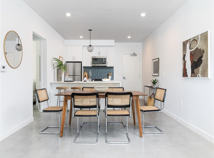 Eat in Dining area perfect for having visitors and family over at The Perch, Los Angeles, CA