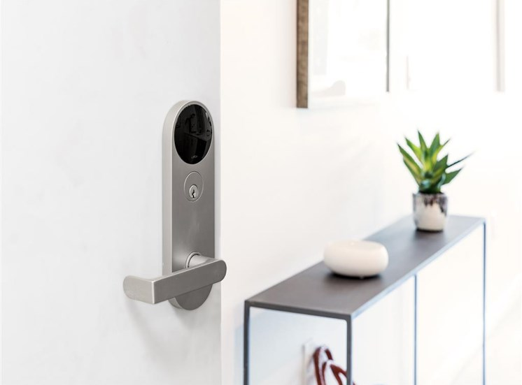 Keyless entry apartment unit at The Perch, Los Angeles