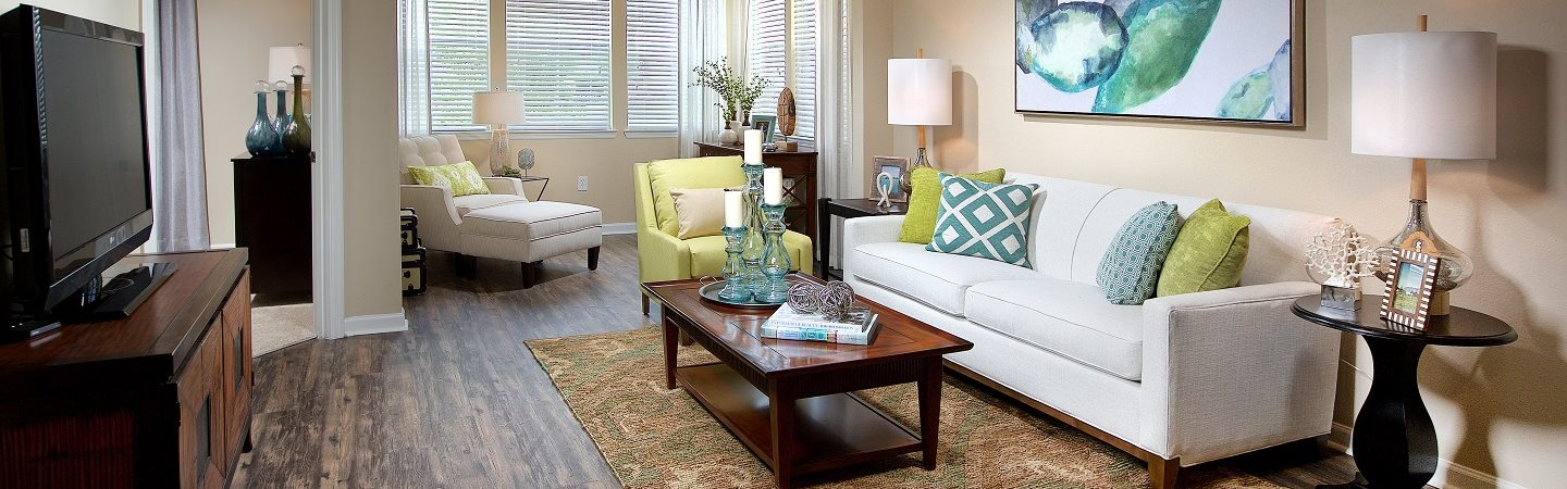 Lively Living Rooms at Century Deerwood Park, Florida