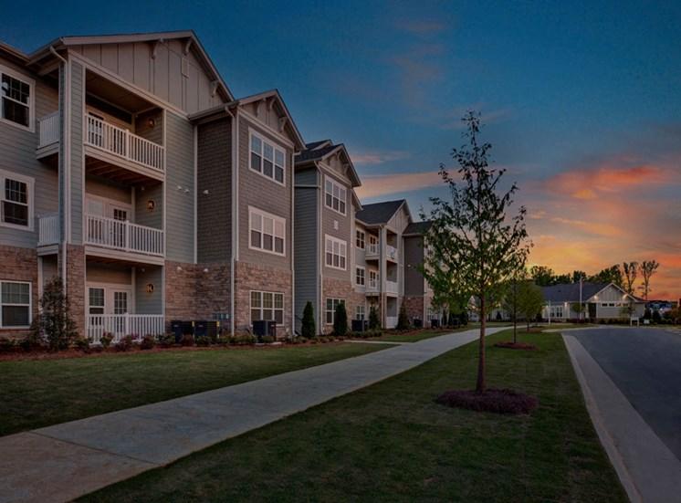 Twilight view at Ascent at Mallard Creek Apartment Homes, North Carolina, 28262