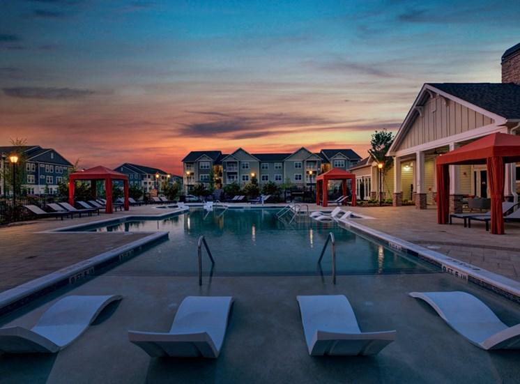 Twilight at Ascent at Mallard Creek Apartment Homes, Charlotte, NC, 28262