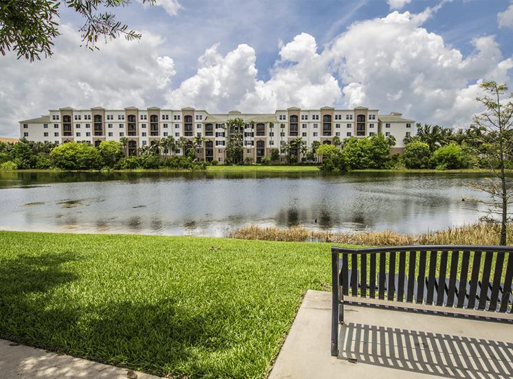 Vizcaya Lakes apartments with a lake view in Boynton Beach, Florida
