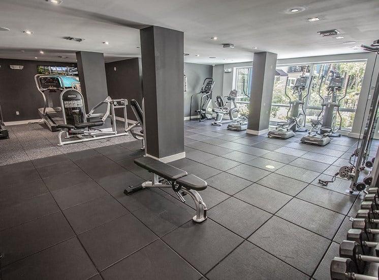 State-of-the-art fitness center at Santorini apartments in Boynton Beach