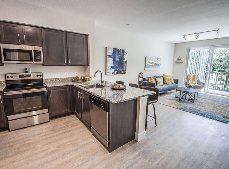 Santorini apartments in Florida with upscale, modern fixtures and finishes