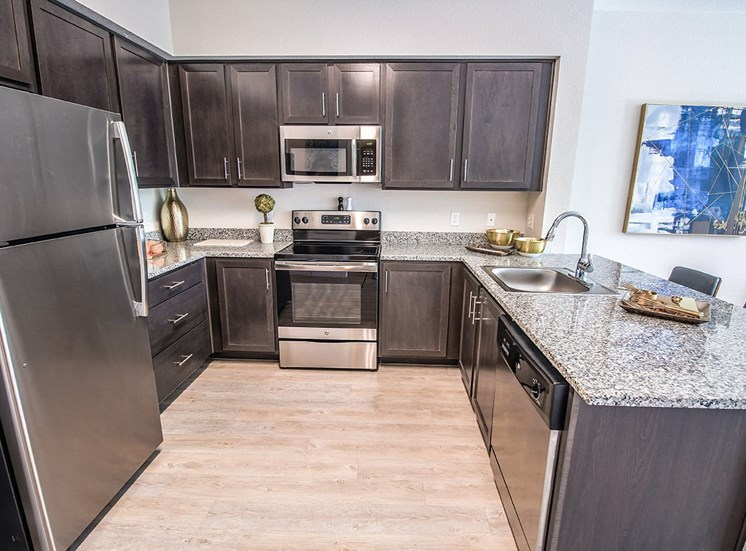 Santorini apartments in Florida with stainless steel appliances