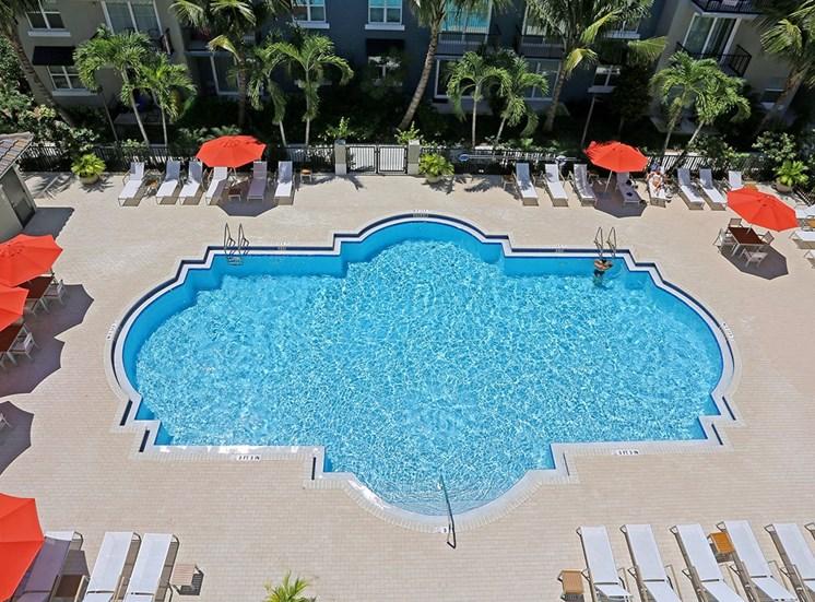 Santorini at Renaissance Commons features a large pool area