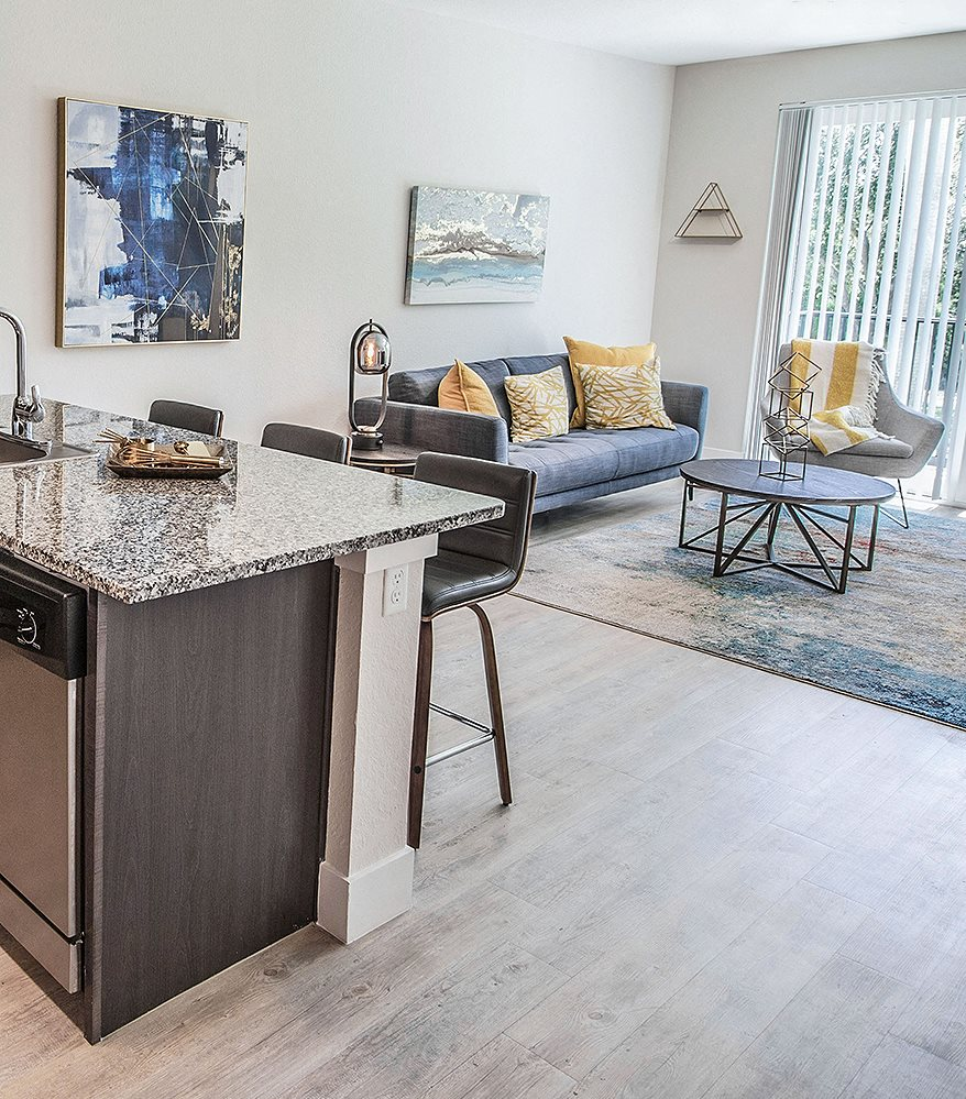 Santorini's apartments in Boynton Beach feature private balconies and lots of natural light